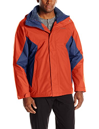Columbia Men's Eager Air Interchange Jacket, Rust Red/Collegiate Navy, Large