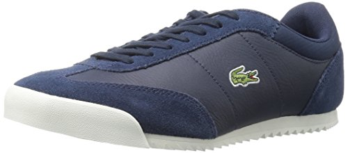 Lacoste Men's Romeau 416 1 Spm Fashion Sneaker, Navy, 10 M US