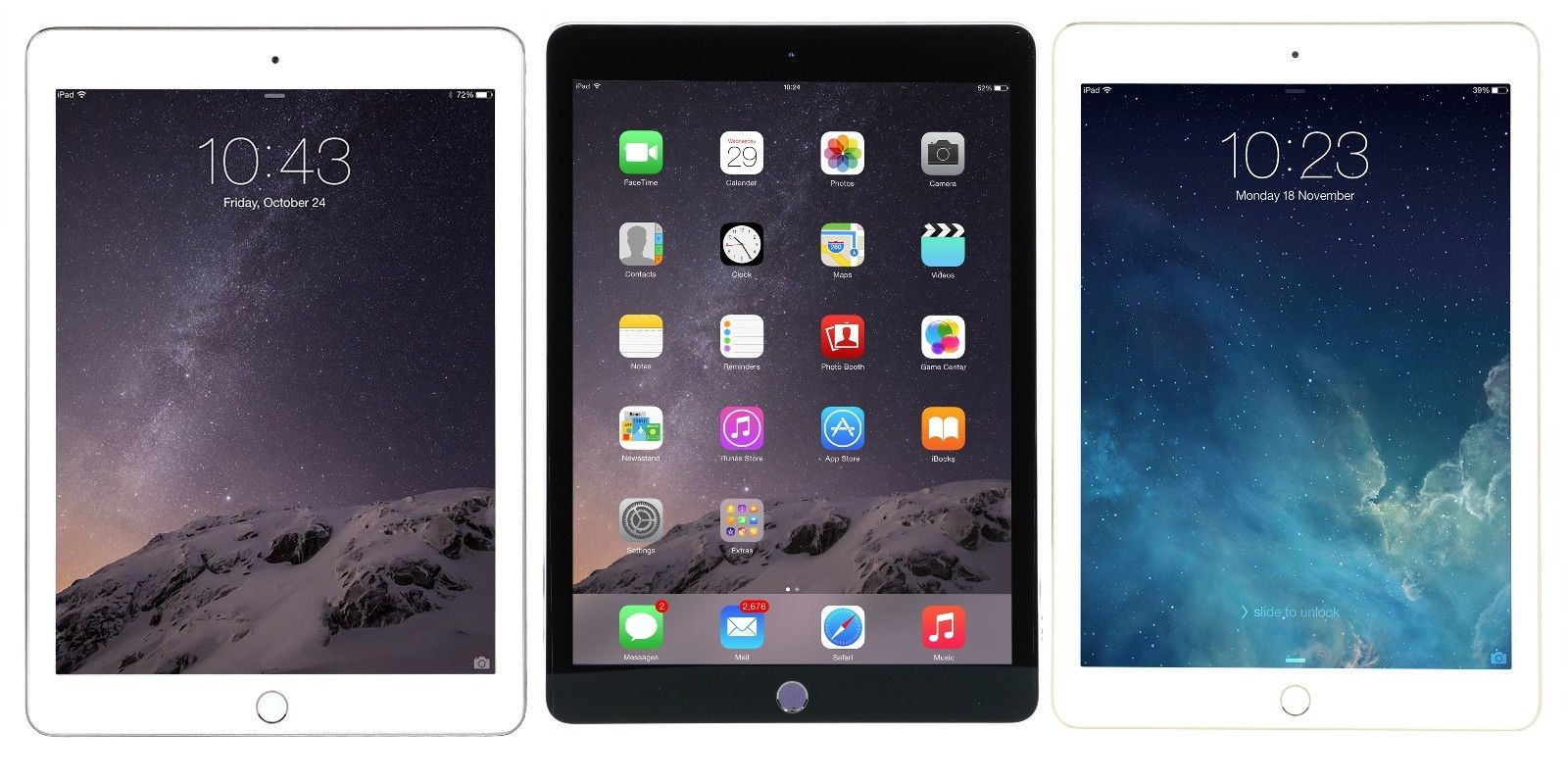 新版Ipad mini Retina Display A8 16GB iOS Wi-Fi White/Black/Gold
