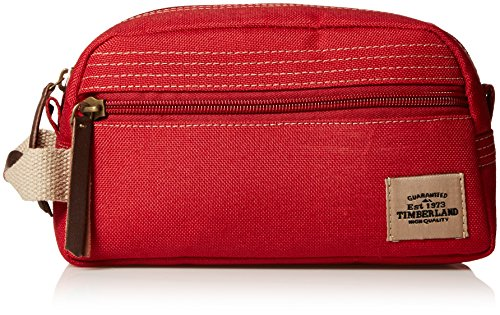 Timberland Men's Canvas Travel Kit, Red, One Size