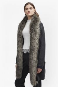 DOUBLE SIDED FAUX FUR VHARI COATIGAN