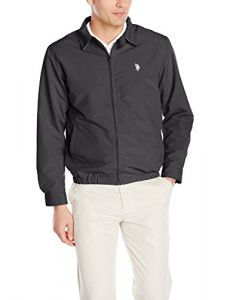 U.S. Polo Assn.. Men's Small Logo Golf Jacket, Black, X-Large