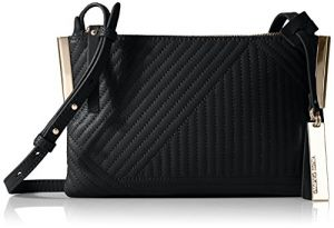 Vince Camuto Tina Small Crossbody, Black Geometric