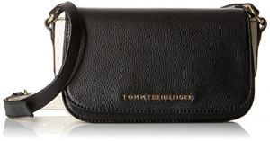 Tommy Hilfiger Claire Leather Crossbody, Black/Winter White
