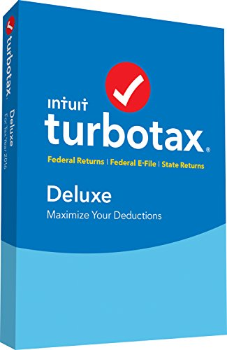 TurboTax Deluxe 2016 Tax Software Federal & State + Fed Efile PC/MAC Disc  [Amazon Exclusive]
