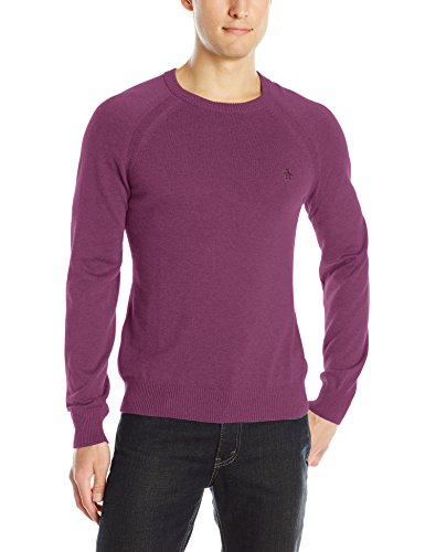 Original Penguin Men's Crew-Neck Sweater, Amaranth, X-Large
