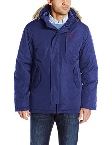 U.S. Polo Assn. Men's Hooded Parka, Classic Navy, Large