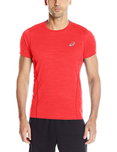 ASICS Men's Lite-Show Short Sleeve Top, Formula One, Small