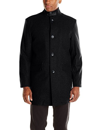Kenneth Cole New York Men's Wool Walker Coat, Black, X-Large