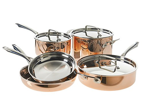Cuisinart Tri-Ply Copper Cookware Set (8-Piece)