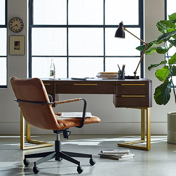 Deal Of The Day Stylish Mid Century Leather Office Chair Now Only 259 12 Dealsaving